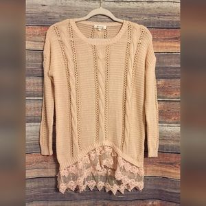 Nordstrom miracle lace hem tunic sweater